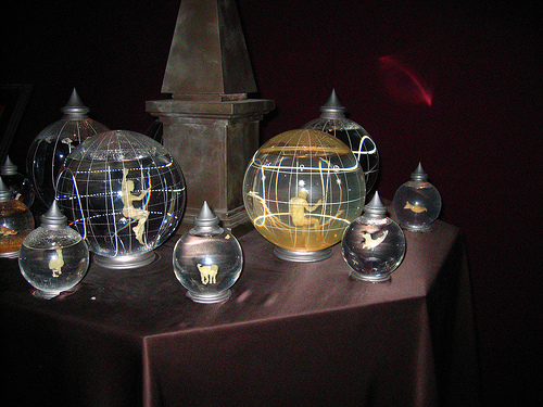 Things in glass orbs