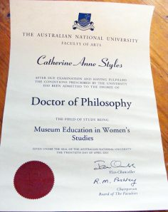 Doctor of Philosophy from Australian National University