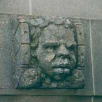 Stone head at the Australian War Memorial